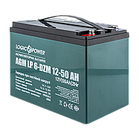 Аккумулятор тяговый для электротранспорта AGM LogicPower LP 6-DZM-50