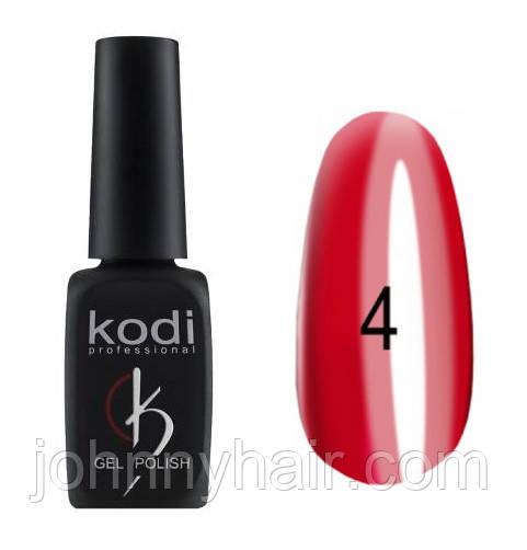 """Гель-лак для ногтей Kodi Professional """"Crystal"""" №04 8 мл"""