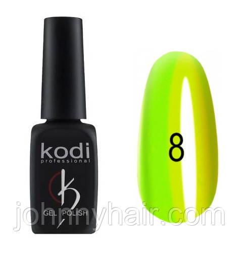 """Гель-лак для нігтів Kodi Professional """"Crystal"""" №08 8 мл"""