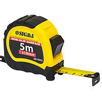 Рулетка shiftlock 5м*19мм Sigma (3815051)