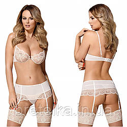 Женское белье комплект молочный Obsessive 874-SEG-2