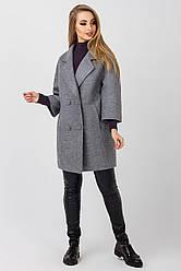 Элегантное женское пальто Неаполь, PN2093 серый