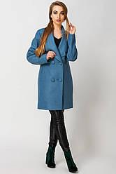Пальто женское Женева, PG2096 бирюза