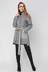 Пальто демисезонное женское Бельгия, PB2041 серый