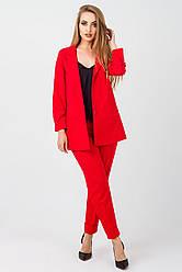 Елегантний жіночий костюм Жасмин креп,KJ2343 червоний