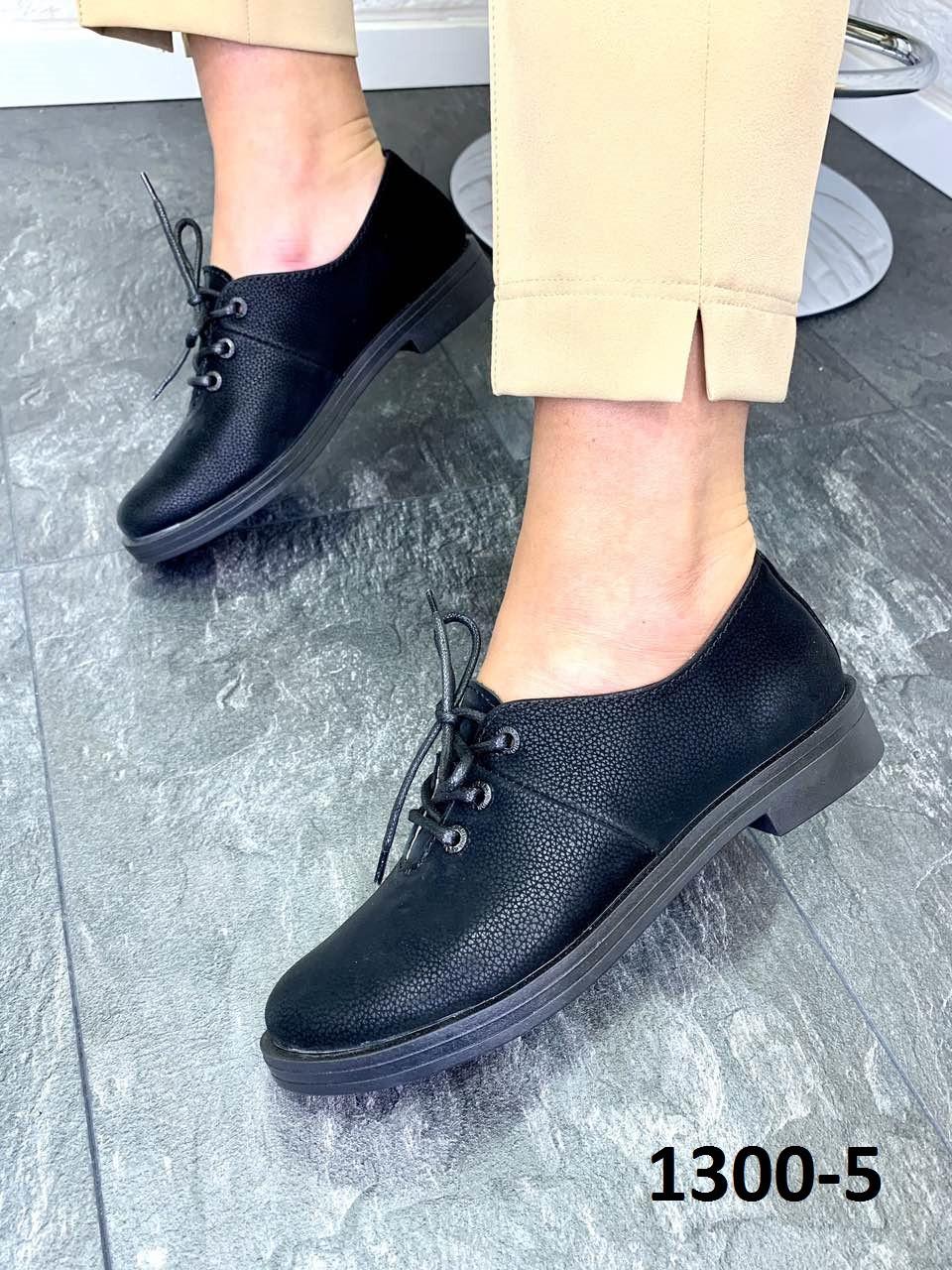 Туфлі жіночі шкіряні класичні чорний оксамит