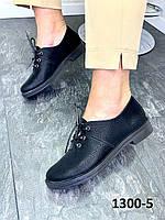 Туфлі жіночі шкіряні класичні чорний оксамит, фото 1