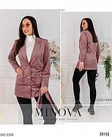 Вельветовый красивый женский пиджак батал размеры 54-64 арт 495
