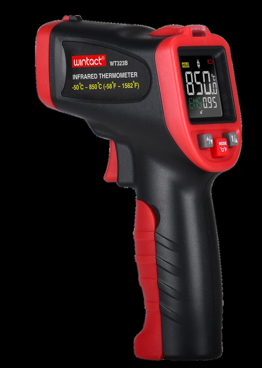 ІНФРАЧЕРВОНИЙ пірометр (кол. дисплей, термопара) -50-850°C WINTACT WT323B