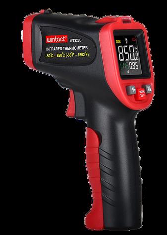 ІНФРАЧЕРВОНИЙ пірометр (кол. дисплей, термопара) -50-850°C WINTACT WT323B, фото 2