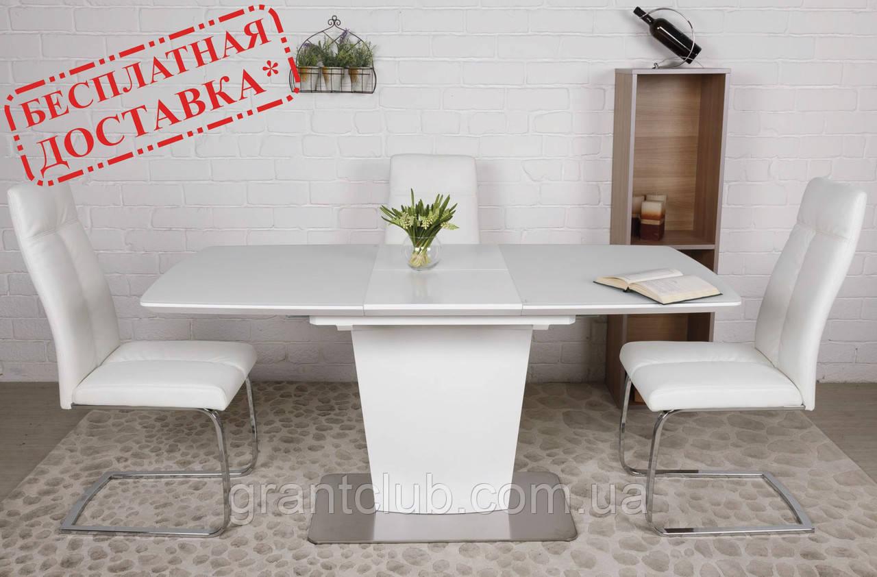 Стол CHICAGO 120/160*80 белый Nicolas (бесплатная доставка)