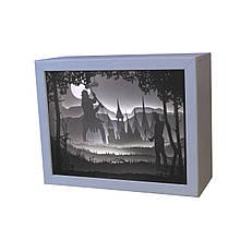 3D Lightbox-ночник Vesper Битва лучника с великаном (205)