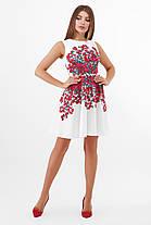 Гарне плаття-міді з купоном з квітів розмір S, M, L, фото 3
