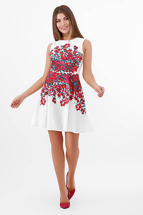 Гарне плаття-міді з купоном з квітів розмір S, M, L, фото 2