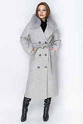 Пальто Торонто мех Leo  Pride (PT2938,  пломбир)