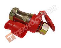 Разъем пневматический (евро) М22х1,5 мама + папа, красный, пневморазъем, воздушная разрывная муфта (98862202)