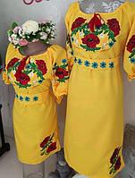 """Вишиті плаття мама і дочка """"Звуки літа"""""""