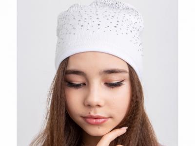 Нежная шапка для девочки на весну- осень - Артикул 2592