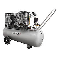 Компресор двоциліндровий ремінною 2.5 кВт 396л/хв 10бар 100л (2 крана) Sigma (7044151)