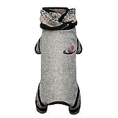 Трикотажный комбинезон для собаки Юпитер M, Длина спины 33-36, обхват груди 41-48 см (серый)