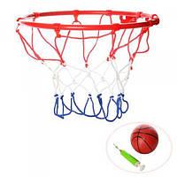 Баскетбольное кольцо металлическое с сеткой Profi (M 3371)