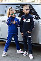 Подростковый спортивный костюм в стиле Fila унисекс на мальчика девочку 7 8 9 10 11 12  лет