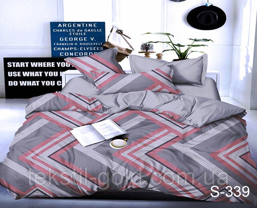Евро комплект постельного белья с компаньоном S339 ТМ TAG сатин