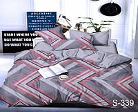 Евро комплект постельного белья с компаньоном S339 ТМ TAG сатин, фото 1