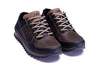 Мужские кожаные Кроссовки New Balance коричневые