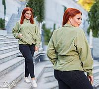 Весенняя модная женская ветровка парка размеры 50-56 арт 41347