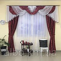 Красивые шторы для дома зала гостинной с ламбрекеном, ламбрекен для кухни спальни балкона, шторы с ламбрекеном, фото 5