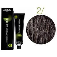 Крем-краска для волос L'Oreal Professionnel INOA Mix 1+1 №2 Schwarzbraun 60 мл