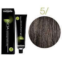 Крем-краска для волос L'Oreal Professionnel INOA Mix 1+1 №5 Светлый шатен  60 мл
