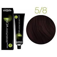 Крем-краска для волос L'Oreal Professionnel INOA Mix 1+1 №5/8 Светлый шатен мокко 60 мл