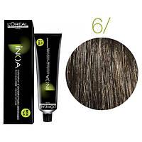 Крем-краска для волос L'Oreal Professionnel INOA Mix 1+1 №6 Натуральный темный блонд 60 мл