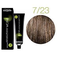 Крем-краска для волос L'Oreal Professionnel INOA Mix 1+1 №7/23 Средний блонд жемчужно-золотистый 60 мл