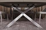 Раскладной обеденный стол PORTLAND 160/210-95 стеклокерамика мокко Nicolas (бесплатная доставка), фото 5