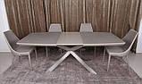 Раскладной обеденный стол PORTLAND 160/210-95 стеклокерамика мокко Nicolas (бесплатная доставка), фото 3