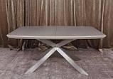 Раскладной обеденный стол PORTLAND 160/210-95 стеклокерамика мокко Nicolas (бесплатная доставка), фото 4
