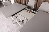 Раскладной обеденный стол PORTLAND 160/210-95 стеклокерамика мокко Nicolas (бесплатная доставка), фото 9