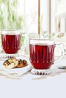 """Набор кружек для чая 155 мл стеклянный """"Istanbul"""" 6 предметный."""