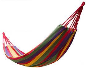 Мексиканский гамак Dense forest с чехлом и веревками 190х80 см Разноцветный (new_16500)