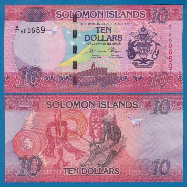 Соломоновы острова -Solomon Islands - 10 Dollars 2017 UNC