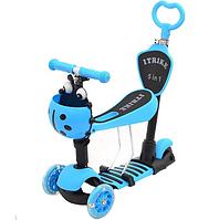 Детский самокат-толокар Maxi Micro трёхколесный Божья коровка Голубой (JR 3-026-B)