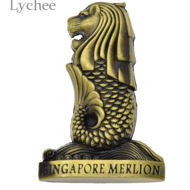 Магнит на холодильник сувенир символ Сингапура Merlion Singapore лев-рыба