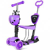 Детский самокат-толокар Maxi Micro трёхколесный Божья коровка Фиолетовый (JR 3-026-B)