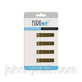 Невидимки для волосся Eurostil коричневі 50 мм шт 24