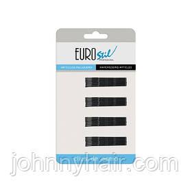 Невидимки для волосся Eurostil чорні 70 мм 24 шт