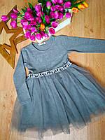 Платье с длинным рукавом BREEZE для девочек 6-11 лет Турция