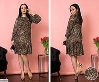Женское шифоновое платье больших размеров. Ткань креп- шифон производство турция.